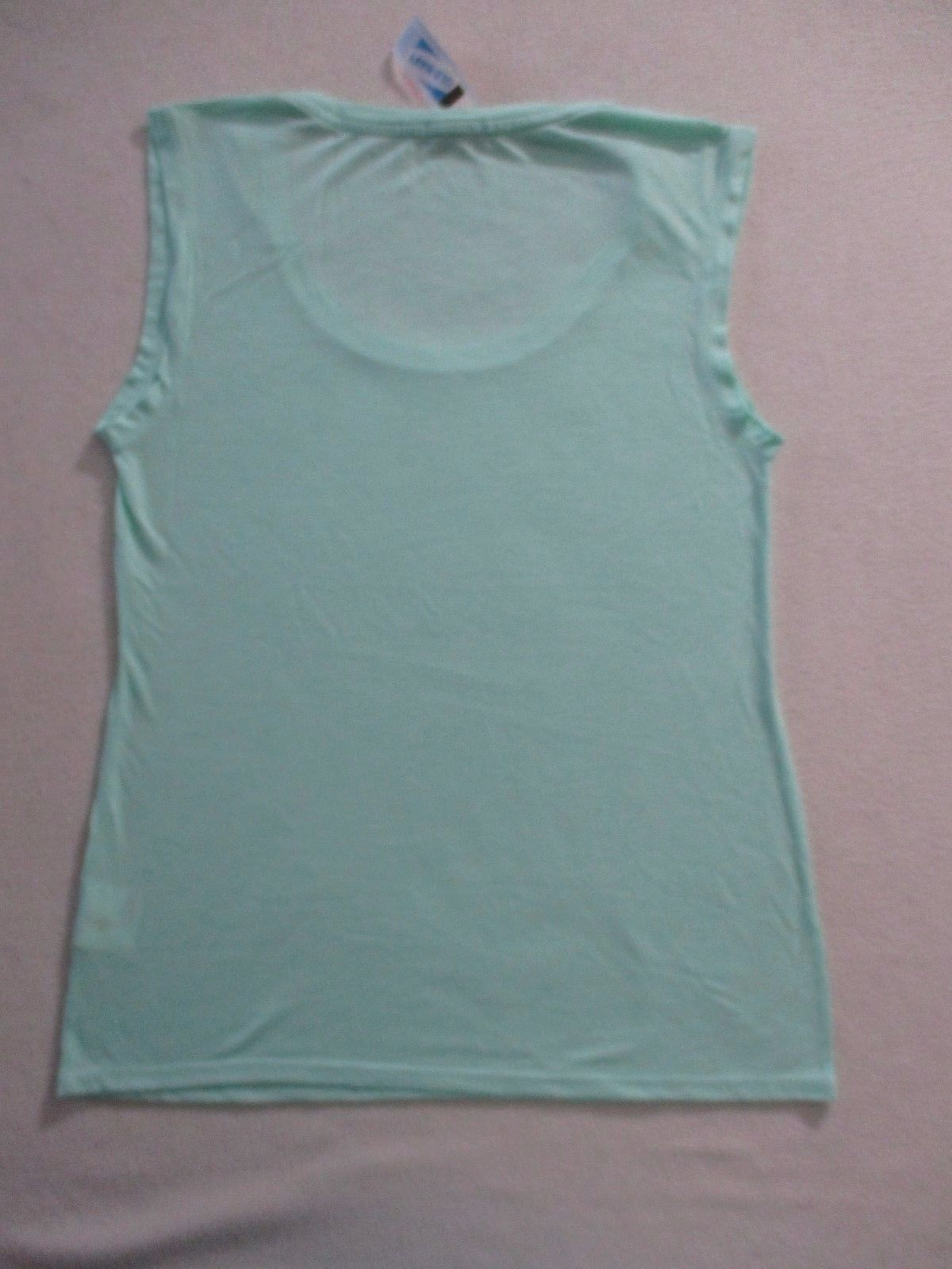 Old Navy Women Top M Mint Solid Casual Sleeveless Polyester Rayon 1777