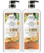 2 Herbal Essences bio:renew White Grapefruit & Mint Naked Volume Shampoo... - $29.69
