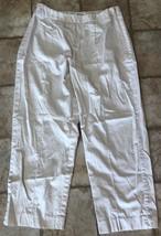 Talbots Petite Stretch Cream Cropped Capri Pants Women's Size 2 - $9.89