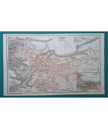 ALGERIA Oran City Town Plan & Environs - 1911 MAP - $30.60