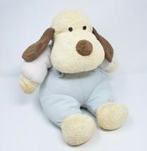 "11"" Baby Ganz 2000 Tan Puppy Dog Blue Pajamas Stuffed Animal Plush Toy Rattle - $61.29"