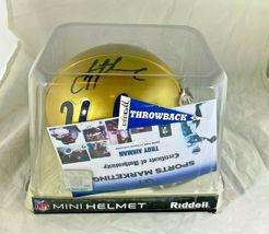 TROY AIKMAN / NFL HALL OF FAME / AUTOGRAPHED UCLA LOGO MINI HELMET / PLAYER COA image 8