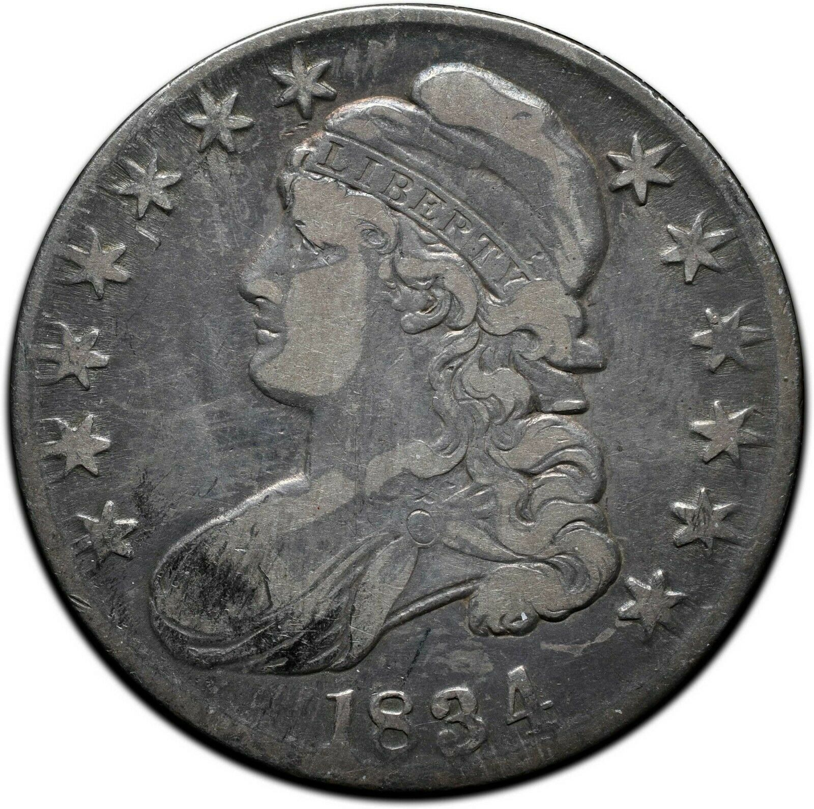 1834 Capped Bust Silver Half Dollar 50¢ Coin Lot# A 428