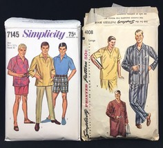 Simplicity Men's Pants Shorts Shirt Pajamas Nightshirt Sewing Patterns 4... - $18.70