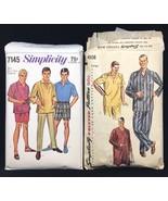 Simplicity Men's Pants Shorts Shirt Pajamas Nightshirt Sewing Patterns 4108 7145 - $18.70