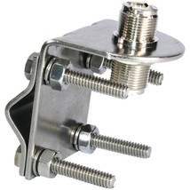 Tram 3270 Stainless Steel SO-239 to SO-239 Antenna Mirror Mount - $31.19