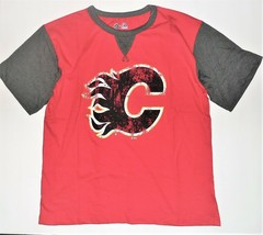 NHL Majestic Boys Calgary Flames Shirt Hockey Size XLarge 18 NWT - $16.48