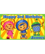 Team Umizoomi Personalized Custom Vinyl Birthday Banner Party Decoration... - $34.95