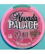 $2.50 Casino Chip. Nevada Palace, Las Vegas, NV. Centennial, LTD 1000. V37. - $5.50