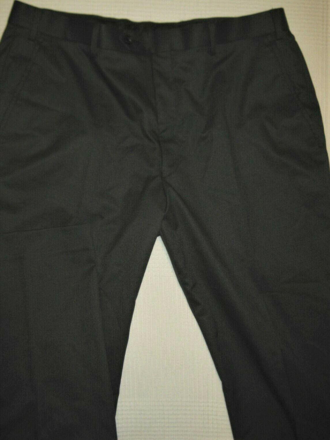 Alfani Mens Grey Flat Front Dress Pants Stretch Regular Fit 36X32