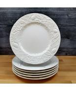 "Mikasa English Countryside Set of 6 Salad Dessert Plates White DP 900 8""... - $56.99"