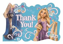 Rapunzel Tangled Thank You Postcards 8 Cards Envelopes & Seals 8 Per Pkg... - $3.91
