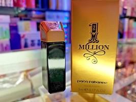 One Million by Paco Rabanne Mini 0.17 .17 oz  5 ml Eau De Toilette Splas... - $43.55