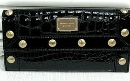 Michael Kors Black, Gold-Studded Michael Kors Wallet Limited Edition - $98.99