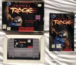 ☆ Primal Rage (Super Nintendo 1995) RARE COMPLETE IN BOX SNES Game Works ☆ - $25.00