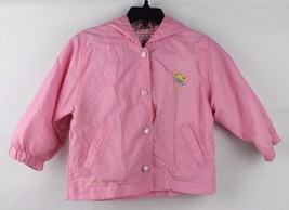 Vintage toddler Kids girls jacket Okie Dokie hoodie pink brooch size 24 ... - $13.78