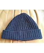 Unisex Hermes Navy Cashmere Knitted Hat (One Size Fits All) - $327.25