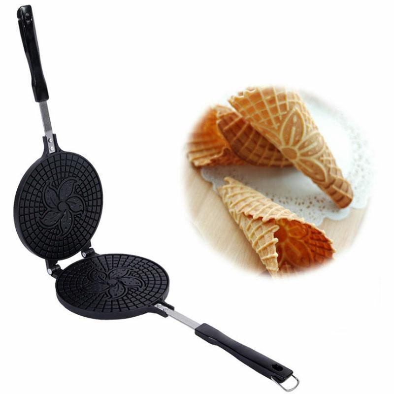 Waffle Maker Omelet Pancake Mold Egg Roll Ring Machine Cake Baking Pan Cookware