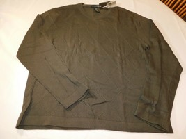 Structure Men's Long Sleeve Shirt Sweater large L 41/43 Brownish Olive NWT - $42.38