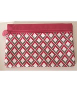 IPSY Makeup Bag Cosmetic Case Pink White Gray Diamond February 2015 - $5.42