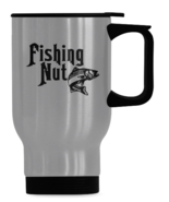 Fishing Nut Travel Mug, Fishing Mug, Dad Fishing Mug, Fishing Coffee Mug... - $19.97