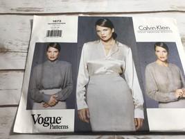 Vintage Vogue Calvin Klein Pattern 1873 Misses Blouses 12 14 16 Easy - $14.80