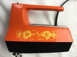 Vtg Orange Westinghouse Hand Food Mixer (3 Speed) Model: HM08-2bf - $37.39