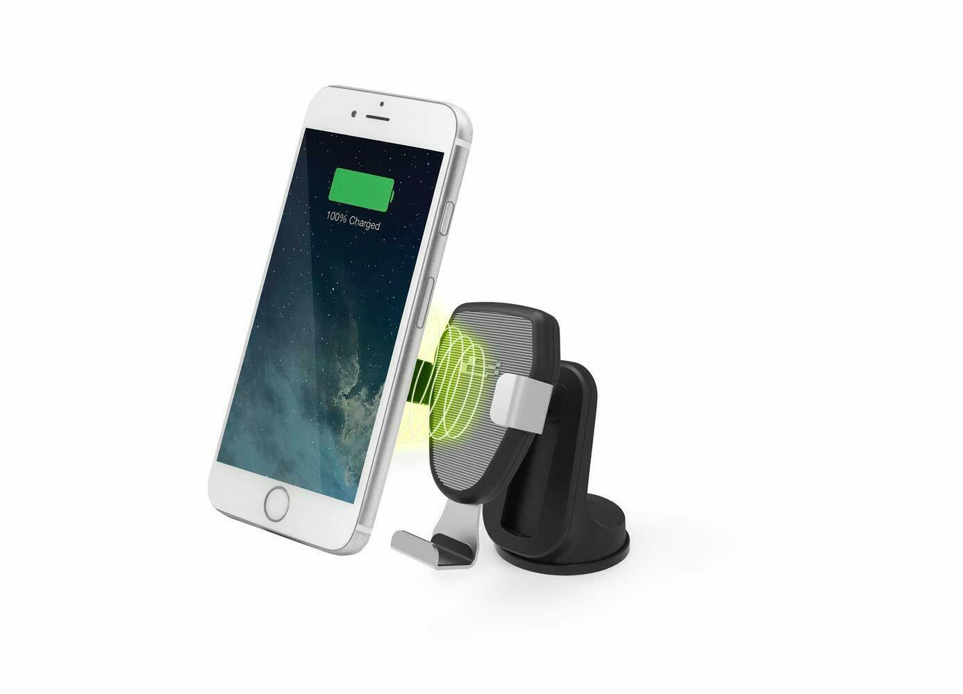 Bracketron 10W Qi Wireless Charging Gravity Mount for Dash or Vent BT29722 PwrUp