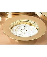 """Stacking Bread Plate - Brass Finish Stainless Steel 10 1/8"""" Dia - $49.45"""