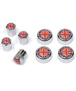 Tire Valve Caps & License Plate Screw Covers - Union Jack - 8-Piece Set - $19.99