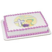 First Communion Edible Cake Topper Image - $9.99+