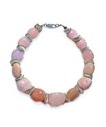 """Pink Opal/Silver Discs Sterling Silver 8"""" Bracelet - $58.99"""