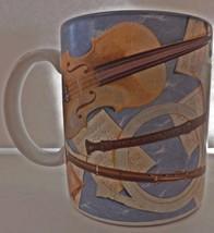 Otagiri Musical Instrument Coffee Mug Tea Cup Classics 1995 Stephen Lawr... - $16.82