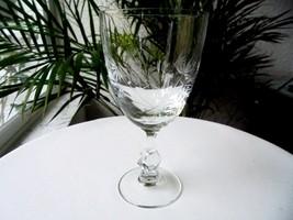 Tiffin Franciscan #17524 Stem Floral Cut Wine Goblet - $10.00