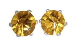Swarovski Crystal Stud Earrings : Jonquil in Sterling - $14.99
