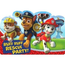 Paw Patrol 8 Ct Postcard Invitations Birthday Party Rubble Chase Marshall - $4.74