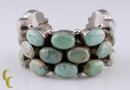 vintage argent massif 925 Bouton de manchette bracelet w/ Robin Oeuf tur... - $801.86