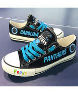 panthers shoe women converse style panthers sneakers carolina fans birth... - $59.99