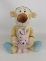 "Winnie the Pooh Bedtime Tigger w Slippers Bunny 13"" Plush Stuffed Disney... - $18.76"
