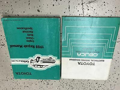 1988 Toyota Fabrik Celica Alle Trac 4WD All-Trac Service Reparatur Shop Manuell