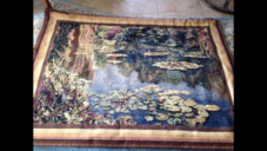 Water lilies Tapestry textile Art - $249.99