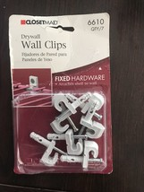 ClosetMaid 7 Dry WALL CLIPS  PART #6610 NEW - €4,99 EUR