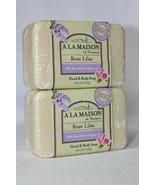2 Pack! A La Maison Rose Lilac Bar Soap, Shea Butter & Argan Oil, 8.8oz ... - $14.84