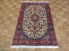 3'6 X 5'4 Hand Knotted Ivory Antique Fine Persian Oriental Rug G89483 - $1,513.49