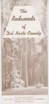 1950s Redwoods of Del Norte County Travel Brochure Crescent City CA Cali... - $10.00