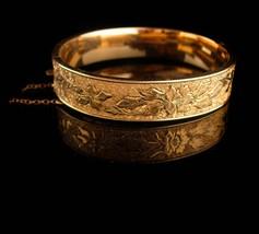 1900s Victorian bracelet - antique gold filled bangle - Antique bracelet 12kt  image 1