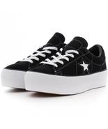 Converse Womens One Star Platform Ox Suede 563869C Black/White Sizes 7 8... - $49.99