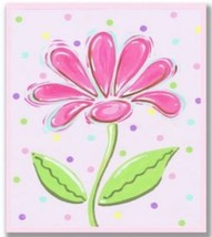 The Kids Room by Stupell Pink Daisy with Polka Dots Rectangle Wall Plaque - $33.61