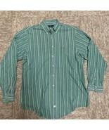 POLO RALPH LAUREN MENS Purple Green Vertical Striped LS Shirt 16/34 - $7.84
