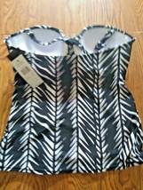 Island Escape Fiji Bandini Swimwear Top Size 12 image 2